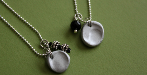 {fingerprint charm necklace}