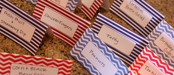 {food tents & cupcake toppers}