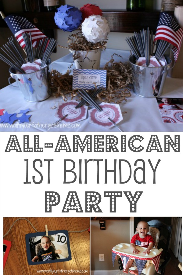 All-American 1st Birthday Party via Wait Til Your Father Gets Home #birthday #firstbirthday #patriotic #fourthofjuly #birthdayparty