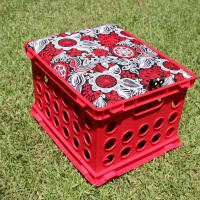Fabric Covered Crate Seat