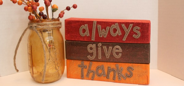 {Thanksgiving Blocks Craft}