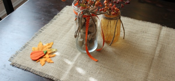 {No-Sew Burlap Table Runner}