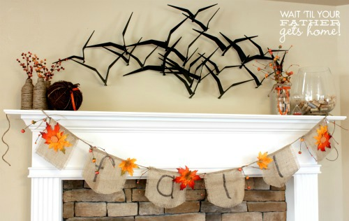 Fall Banner and Mantel