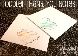 Toddler Thank You Notes