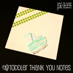Toddler Thank You Note