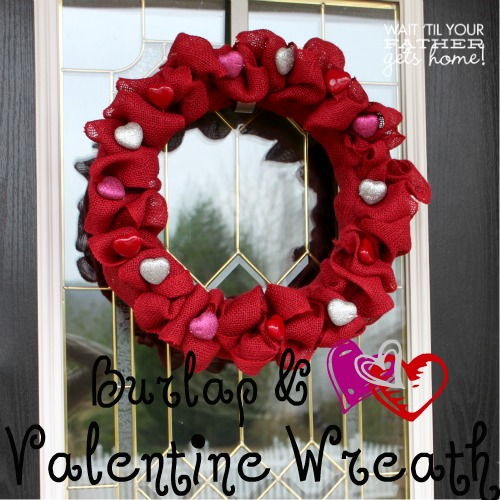 burlap heart valentine wreath