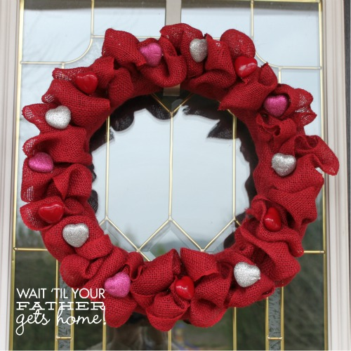 valentine wreaths for your front doorBurlap  Heart Valentine Wreath  Wait Til Your Father Gets Home