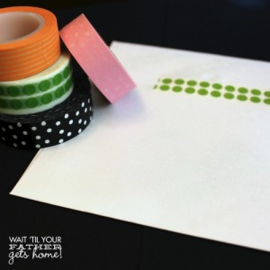 envelopes.washi tape