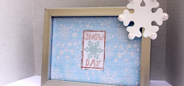 {Snowflake Blog Party & Snow Day Frame}