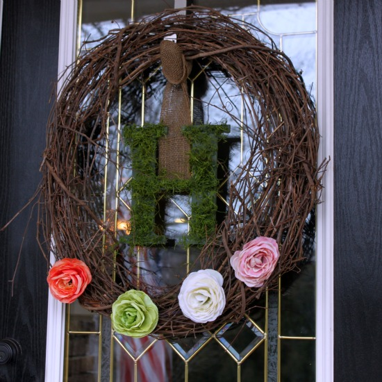 Grapevine & Moss Wreath at WTYFGH