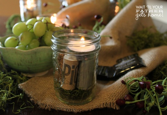 Mason Jar Candle Holder2