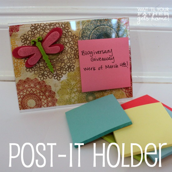 Spring Inspired Post It Note