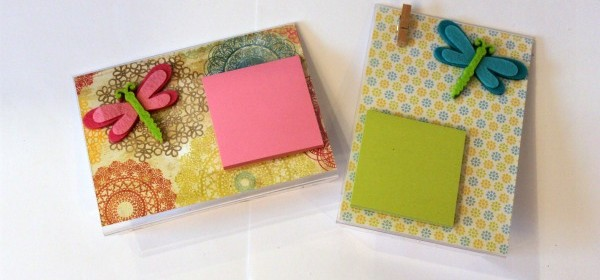 {Spring Inspired Post-It Holder}