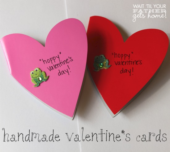 Hoppy Valentines Day Wait Til Your Father Gets Home – Valentine Cards to Make at Home