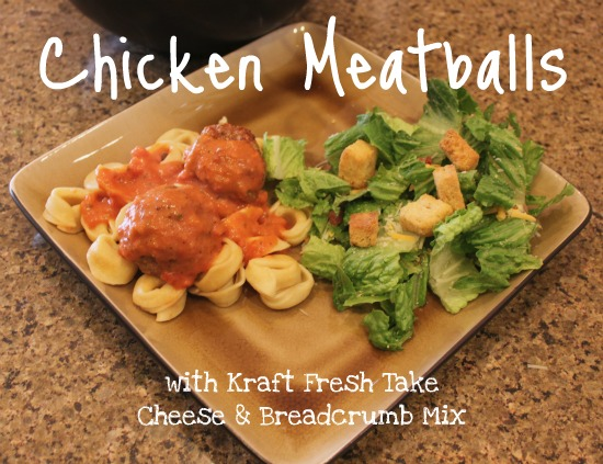 Chicken Meatballs with Kraft Fresh Take  #FreshTake #cbias