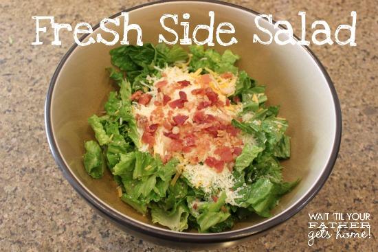 Fresh Side Salad  #FreshTake #cbias