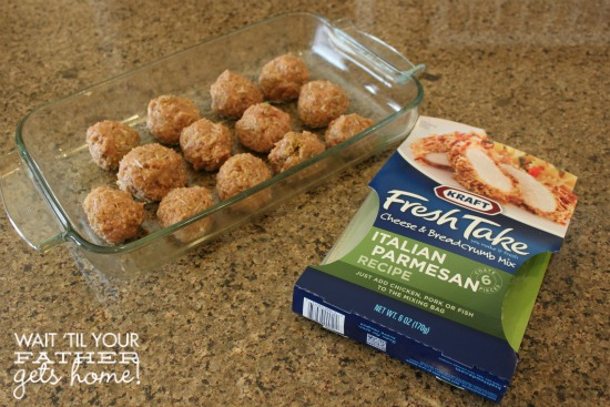 Meatballs with Kraft Fresh Take  #FreshTake #cbias