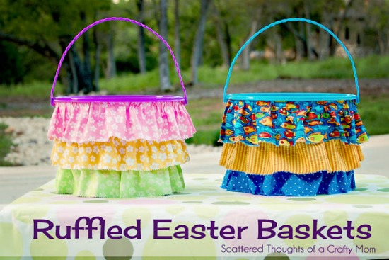 Ruffled Easter baskets