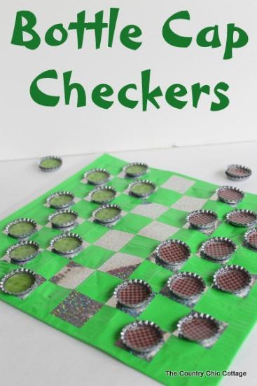 bottle cap checkers