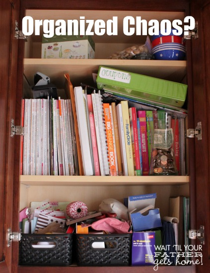 Desk Re-Organization @ Wait Til Your Father Gets Home #desk #organize #springcleaning