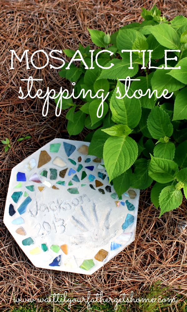 Mosaic Tile Stepping Stone by Wait Til Your Father Gets Home #MothersDay #gifts #garden #steppingstone