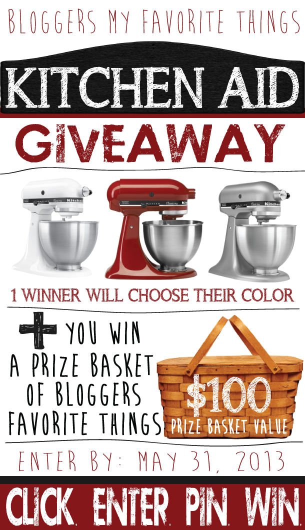 Kitchen Aid #Giveaway @ Wait Til Your Father Gets Home #kitchenaid #entertowin