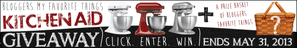 Kitchen Aid Giveaway + Bloggers Favorite Things Basket