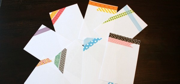 {Washi Tape Notecards}