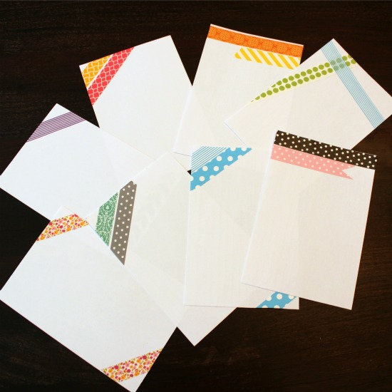 washi tape notecards @ WTYFGH
