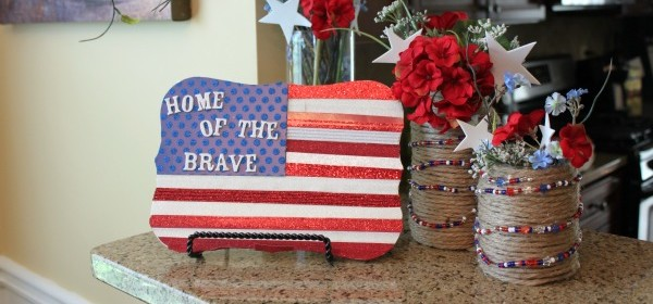 {American Flag Plaque}