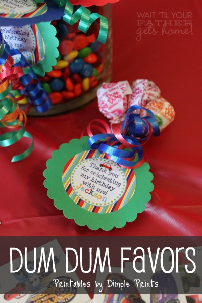 Dum Birthday Party Favor