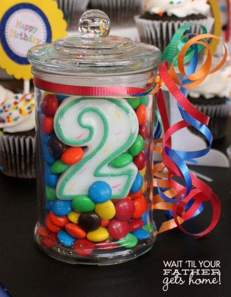 Simple birthday centerpieces wait til your father gets