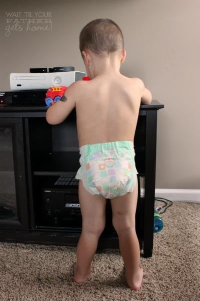 diaper on
