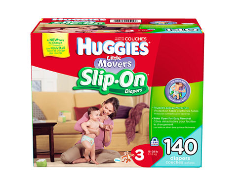 Huggies Slip On Diapers available at Target make diaper changes much easier with your little walker! #HuggiesSlipOn #pmedia #toddler #diapers #giveaway