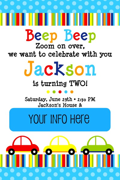 Car Truck Birthday Party Wait Til Your Father Gets Home – Truck Birthday Party Invitations