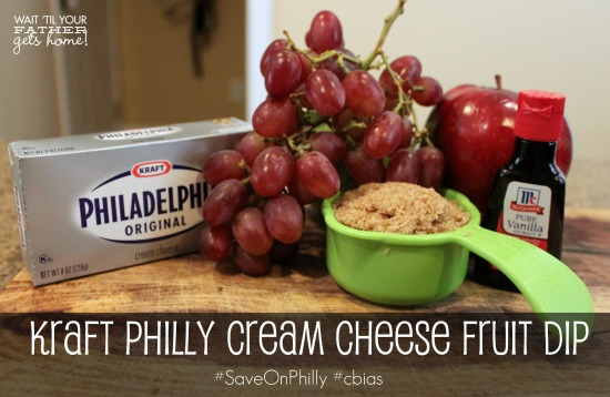 #shop Kraft Philly Cream Cheese Fruit Dip via www.waittilyourfathergetshome.com #SaveOnPhilly #cbias #shop