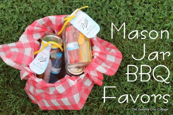 mason jar bbq favors