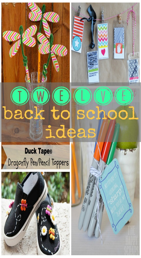 Twelve Back to #School ideas, #crafts, #projects and #gifts via www.waittilyourfathergetshome.com