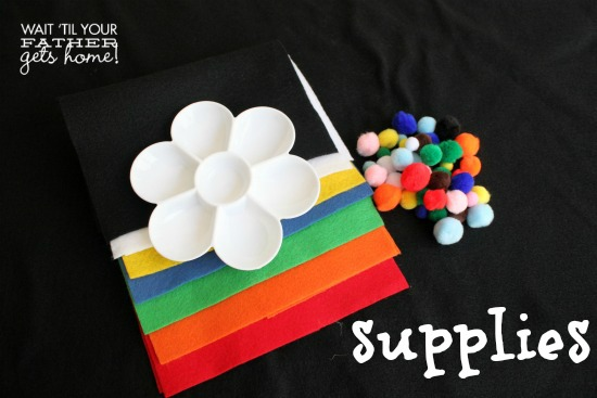 Paint Palette Color Sorting for Toddlers by www.waittilyourfathergetshome.com #teachmetuesdays #toddlers #homeschool #colors #sorting