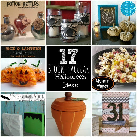 I am lovin' all of the holiday inspiration! This is my favorite time of year! Check out these 17 Spook-tacular Halloween Ideas! #halloween #features
