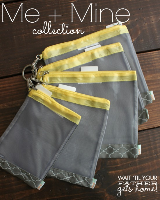 Me + Mine collection by sugarSNAP via www.waittilyourfathergetshome.com #diaperbag #baby #organization