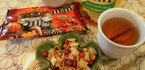 Fall Harvest M&M's Trail Mix & Warm Cider