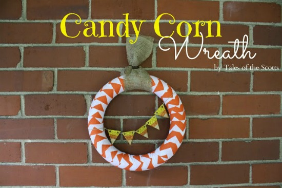 Candy Corn Wreath 1