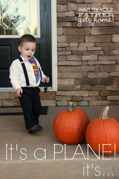 Clark Kent Toddler Costume via www.waittilyourfathergetshome.com #costume #toddler #handmade #superman #clarkkent