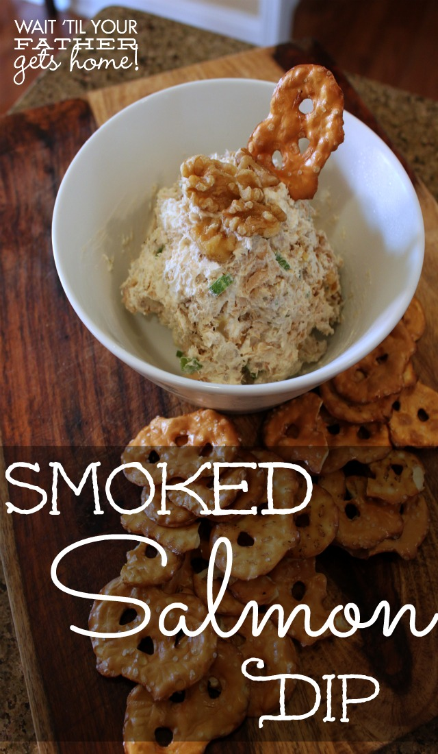 Smoked Salmon Dip via www.waittilyourfathergetshome.com #appetizer