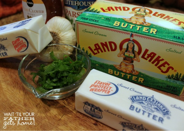#shop Use Land O' Lakes butter this holiday season to make some delicious compound butters like Honey Parsley and Roasted Garlic & Chive to enjoy with fresh, homemade rolls and breads.  Your family will thank you! #HolidayButter #shop #cbias @landolakesktchn via www.waittilyourfathergetshome.com