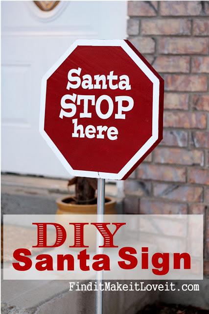 DIY Santa Stop Sign (4)