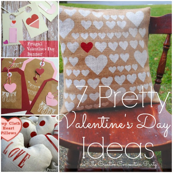 7 Pretty Valentine's Day Ideas via www.waittilyourfathergetshome.com #ValentinesDay #Valentine #DIY #Crafts