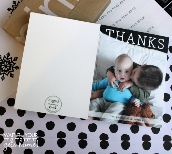 Say Thank You this year with Minted and www.waittilyourfathergetshome.com #thankyounotes #paperproducts #stationery