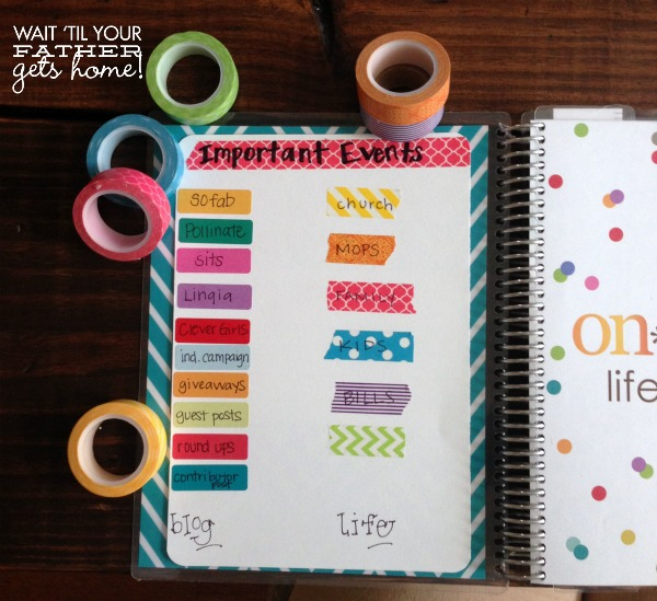 Organize your planner wait til your father gets home for How do you use washi tape
